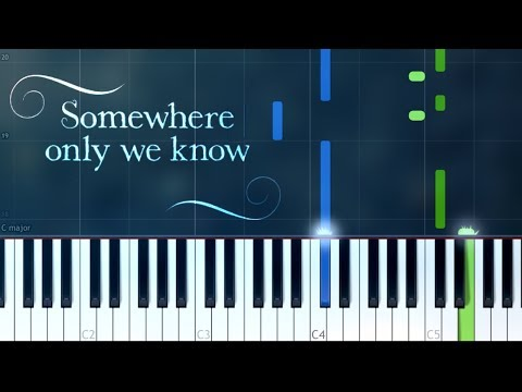 """""""Somewhere Only We Know"""" Keane/ Lily Allen Piano Tutorial - Chords - How To Play - Cover"""