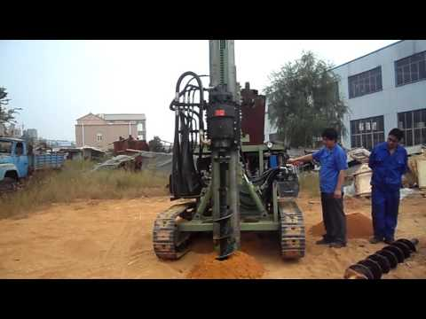 HF130Y DTH Drilling Rig Working Demo