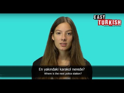 10 Turkish Phrases for a troublesome Situation - Easy Turkish Basic Phrases (3)