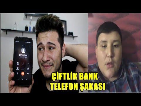 ÇİFTLİK BANK TELEFON ŞAKASIYLA DOLANDIRDIM !
