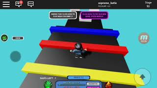 Playing Roblox Obby For MY Frirst Vid! :MEGA FUN OBBY
