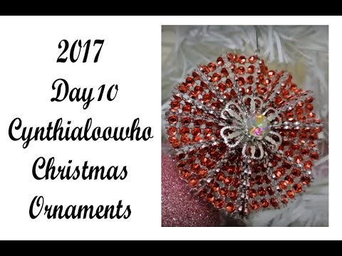 Day 10 of 10 Days of Christmas Ornaments with Cynthialoowho 2017