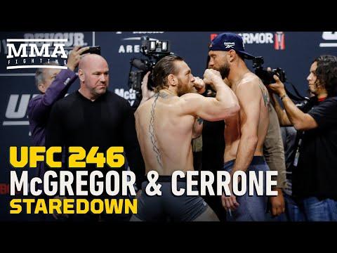 Ufc 246 Conor Mcgregor Vs Donald Cowboy Cerrone Final Face Off Video Middleeasy Com