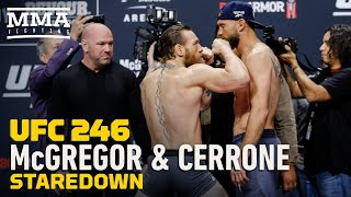 UFC 246: Conor McGregor vs. Donald Cerrone Staredown - MMA Fighting
