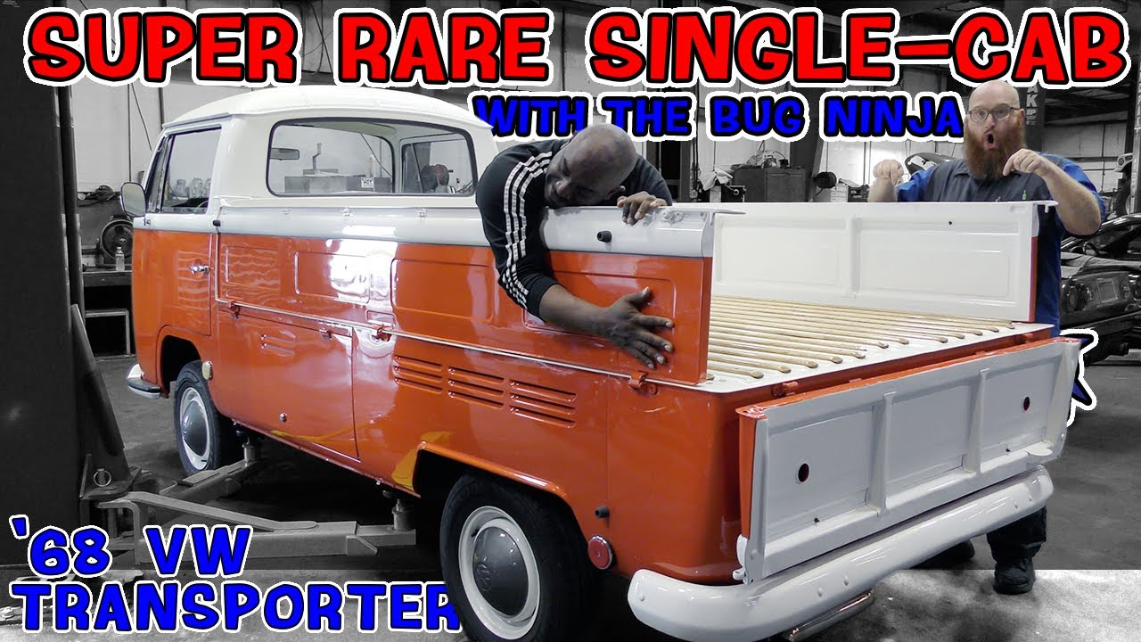 Super Rare '68 Volkswagen Single Cab Transporter in the CAR WIZARD's shop. Bug Ninja fell in love!