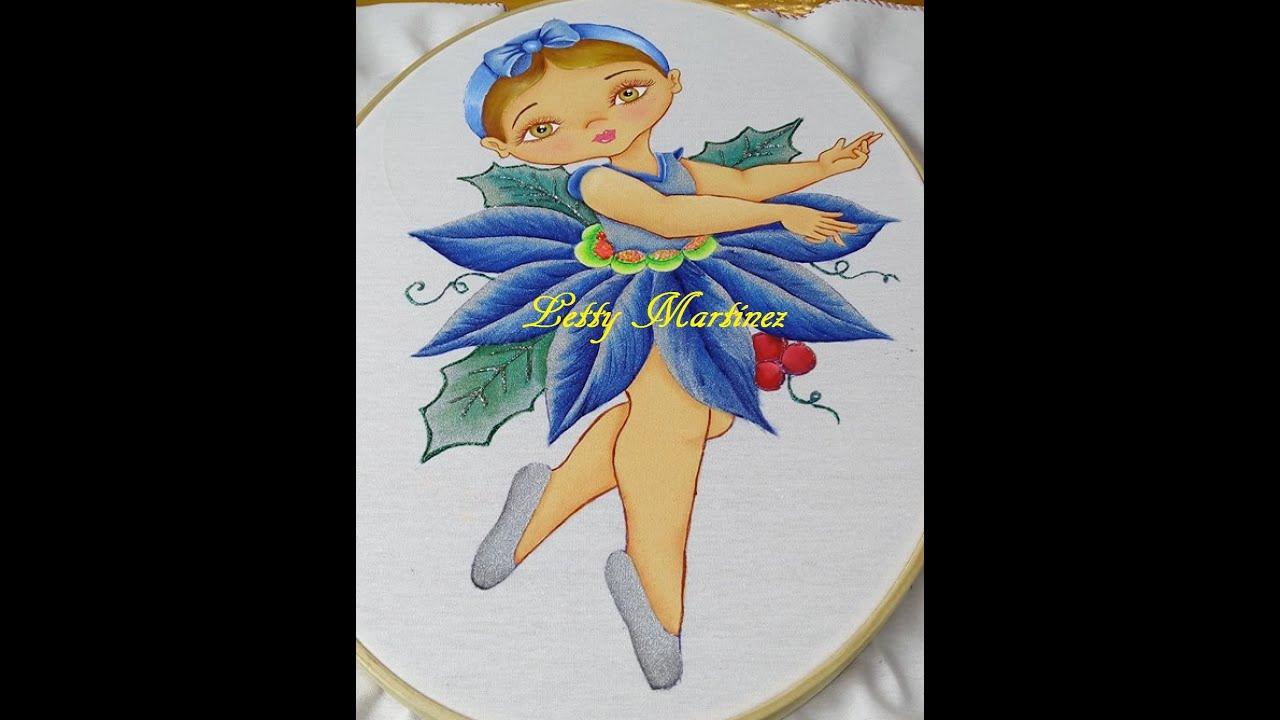 Pintura en tela flor nochebuena ni a navidad 4 youtube - Pintura en tela dibujos ...