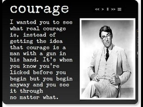 to kill a mockingbird courage