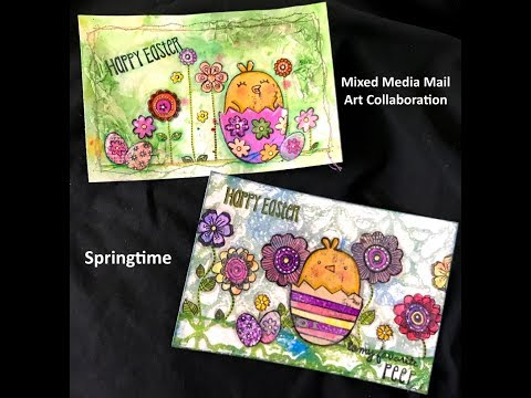 Mixed Media Mail Art Collaboration - Springtime