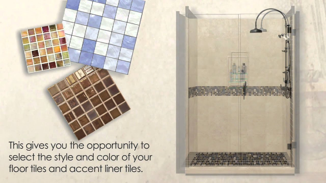 american bath factory custom accent shower kits youtube