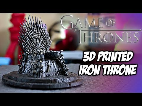 Game Of Thrones Iron Throne Replica Prop | 3D Printed | Who Will End Up On The Throne?