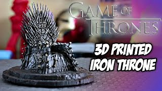 Game of Thrones Iron Throne Replica Prop  3D Printed  Who will end up on the Throne