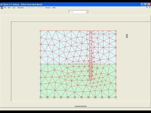 PLAXIS 2D v8 Tutorial Lesson 2 Submerged Construction of an Excavation