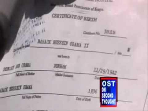Barack H Obama Born in Kenya The REAL Birth Certificate !