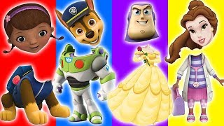 Wrong Heads Toy Story Paw Patrol Chase Doc McStuffins Belle Finger Family rhymes for kids