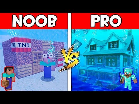 Minecraft - NOOB vs PRO : UNDERWATER BASE in Minecraft ! AVM SHORTS Animation