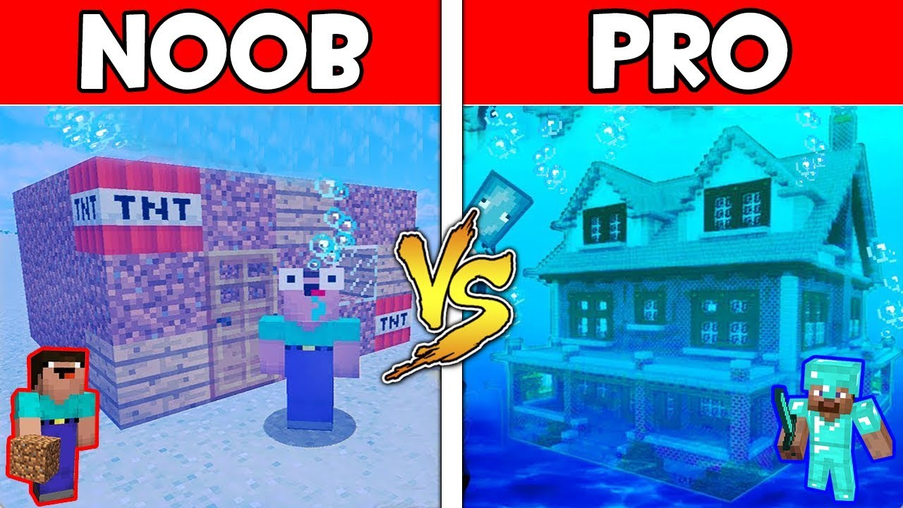 Minecraft - NOOB vs PRO : UNDERWATER BASE in Minecraft ! AVM SHORTS Animation