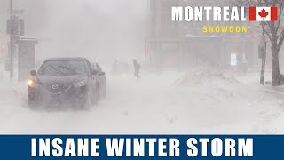 Montreal Snowstorm 2020 – Wiฑter Storm in Canada February 2020 #snow #snowstorm #Montreal