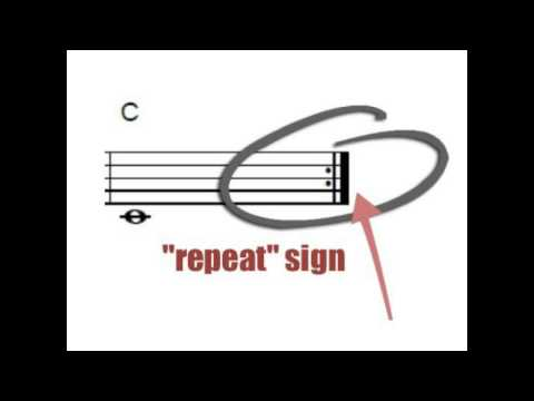 Learn piano repeat signs