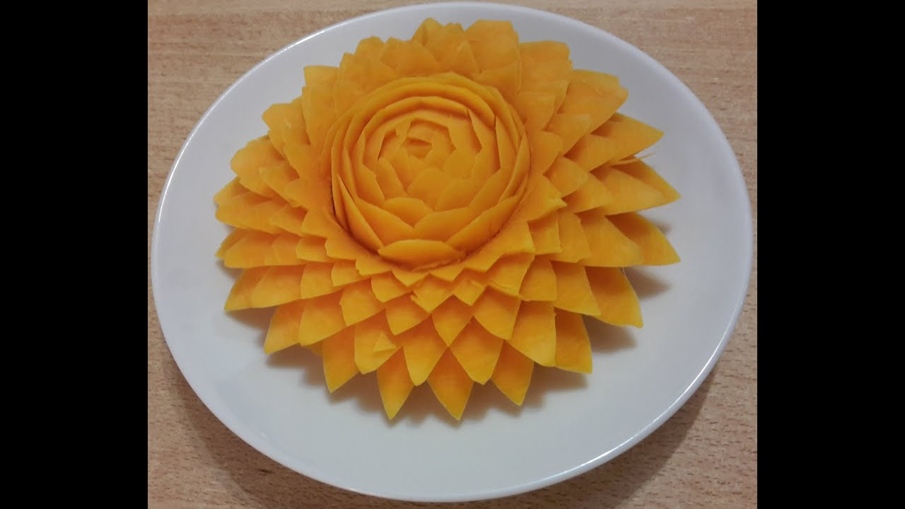 carving flower from vegetables c ch t a hoa t qu b. Black Bedroom Furniture Sets. Home Design Ideas
