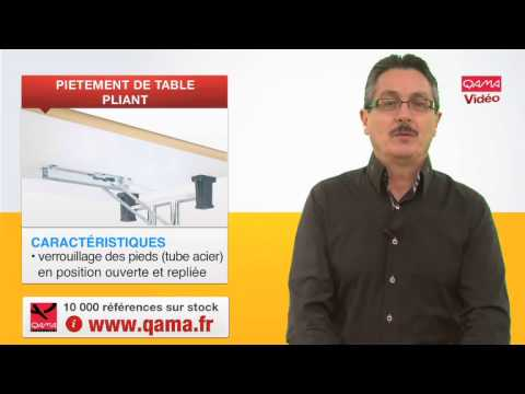 Pieds rabattables pi tement de table pliant par qama - Table pied pliant ...