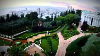 Сады Бахаи, Хайфа   вид с воздуха(Бахайские сады, одно из прекрасных мест Израиля., 2014-03-03T13:36:54.000Z)