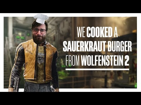 We cooked a Sauerkraut Burger from Wolfenstein 2