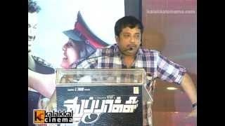 Kalaipuli S thanu and Sathyan at Thuppakki Movie Audio Launch