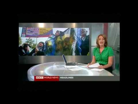 BBC News protest in Iran 18 Sep (Lusy in Green)