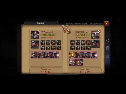 Massive 370m++ KvK losses Recap k134 Vs k359 Bot Farm Cheaters - King of Avalon / Guns of Glory