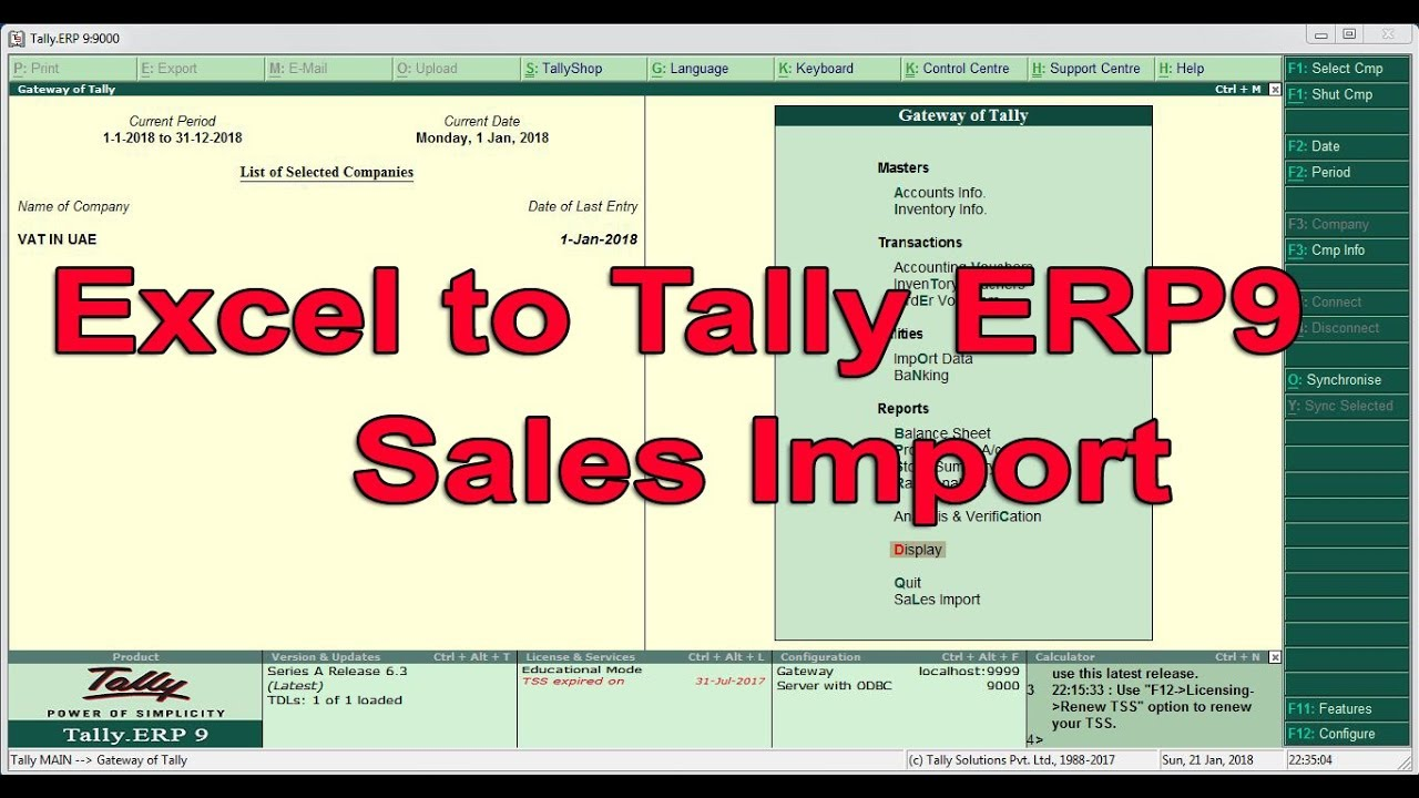 tally 9.0 is dos based software