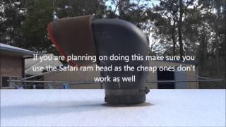 How to Pressurise a Jayco Swan - Stop Dust Getting inside a Caravan
