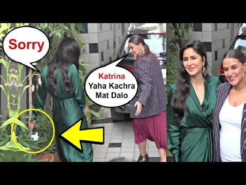 Katrina Kaif Caught Throwing Garbage In Plants At No Filter With Neha Season 3