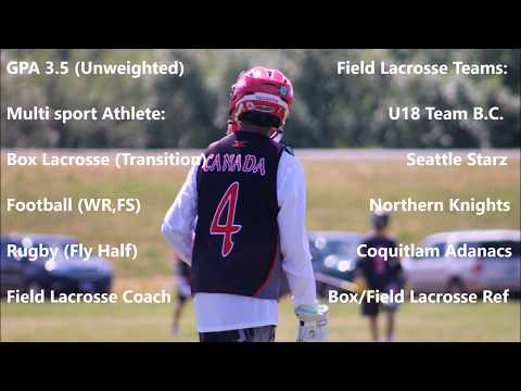 Brian Simmons 2020 Canadian Goalie 2017 Summer Lacrosse Highlights