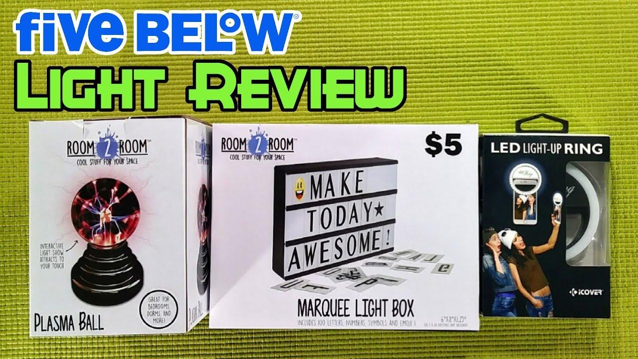 Five Below Light Review Cheap Marquee Light Box Budget