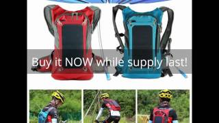 Solar Charger Hydration Backpack Water Bag Hiking Cycling Climbing Marathon