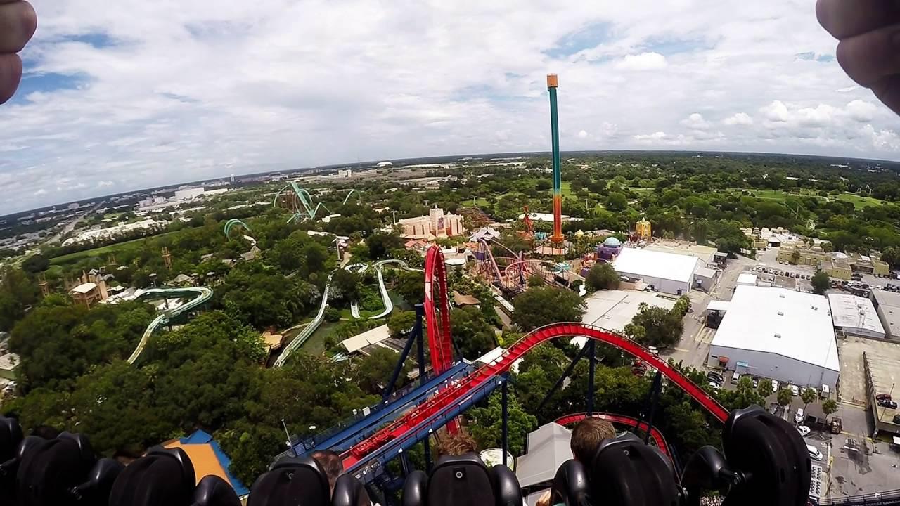 Sheikra roller coaster - YouTube