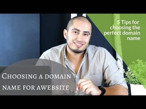 Choosing a domain name for a website