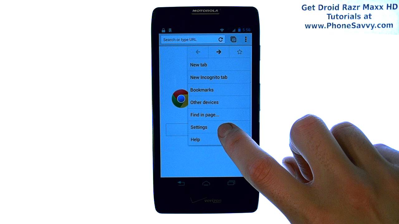 Motorola Droid Razr Maxx HD - How Do I Clear Web Browsing History