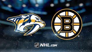Youth powers Bruins past Predators in 4-3 win