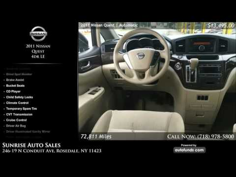 Used 2011 Nissan Quest | Sunrise Auto Sales, Rosedale, NY