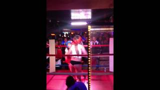 Foxy Boxing inside The Manor (Guelph) - Girl Gets Knocked Out!!