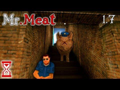 Устроил столкновение Полицейского со Свином   Mr. Meat 1.7