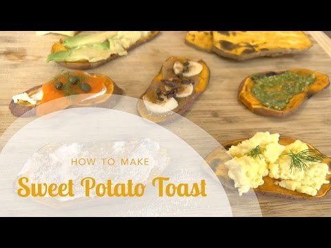 How to Make Sweet Potato Toast In a Toaster Oven or Toaster (All Natural Gluten Free Toast Recipe)