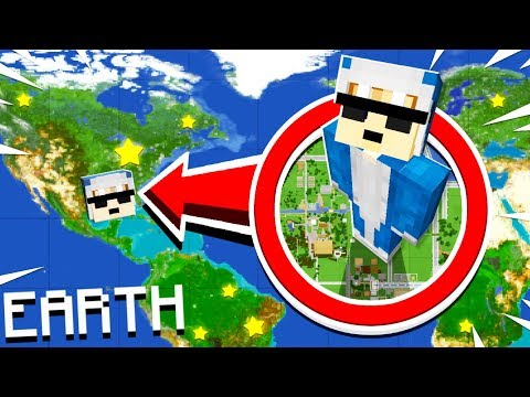 PLAYING MINECRAFT ON A 1:1 SCALE OF EARTH!