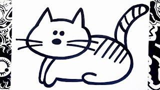 Como dibujar un gato | how to draw a cat