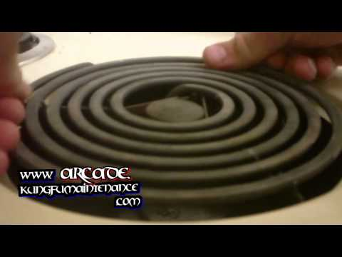 How to clean stove top elements