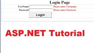 ASP.NET Tutorial 7- Create a Login website -  Creating Sessions and Secure Logins