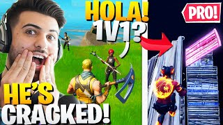 I Found A *SPANISH* PRO In Random Duos! (We 1v1'd!) - Fortnite Battle Royale
