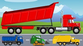 Learn Colors and Dinosaurs | Fine Toys Construction Vehicles for Kids | What Cabin? - Cartoon
