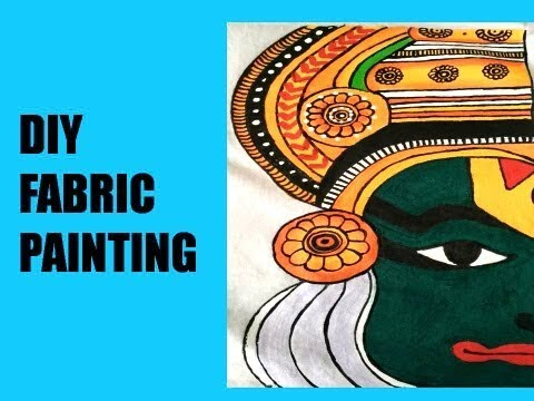 DIY khathkali fabric painting | easy fabric painting ideas | cloth painting